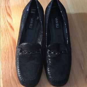 Black Leather Loafers with lots of miles left!